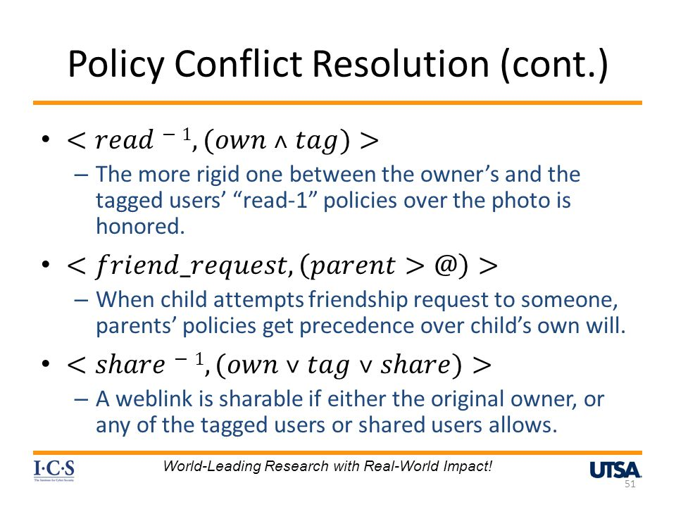Policy Conflict Resolution (cont.)