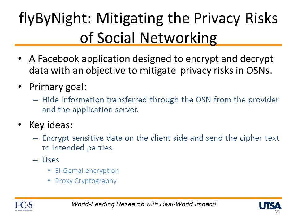 flyByNight: Mitigating the Privacy Risks of Social Networking
