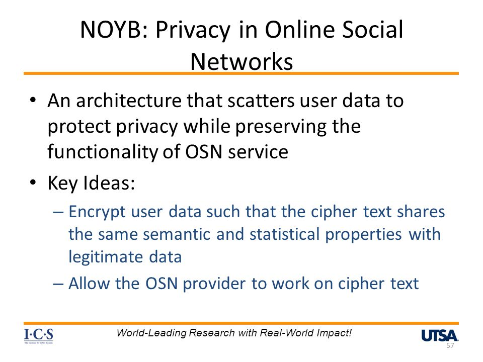 NOYB: Privacy in Online Social Networks