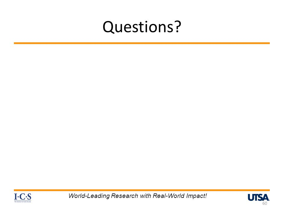 Questions World-Leading Research with Real-World Impact!