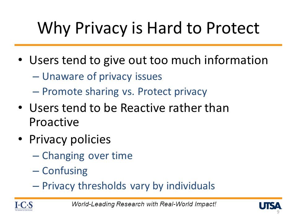 Why Privacy is Hard to Protect
