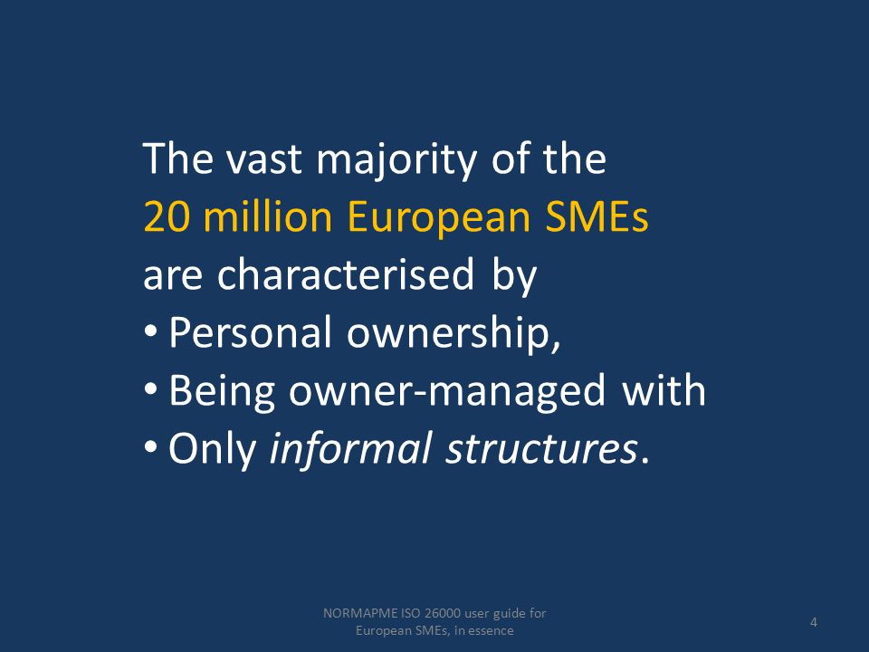 NORMAPME ISO 26000 user guide for European SMEs, in essence