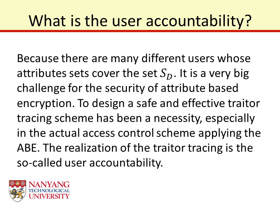 What is the user accountability