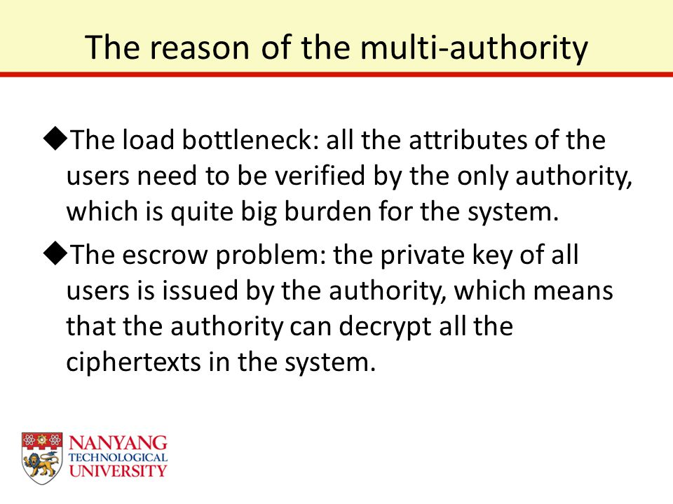 The reason of the multi-authority