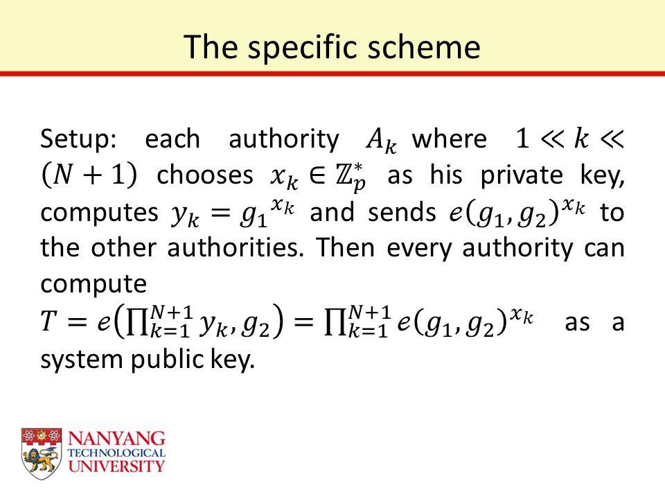 The specific scheme