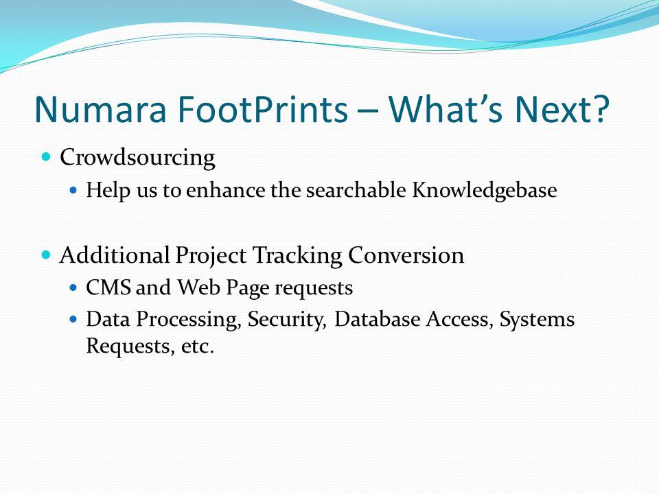 Numara FootPrints – What's Next