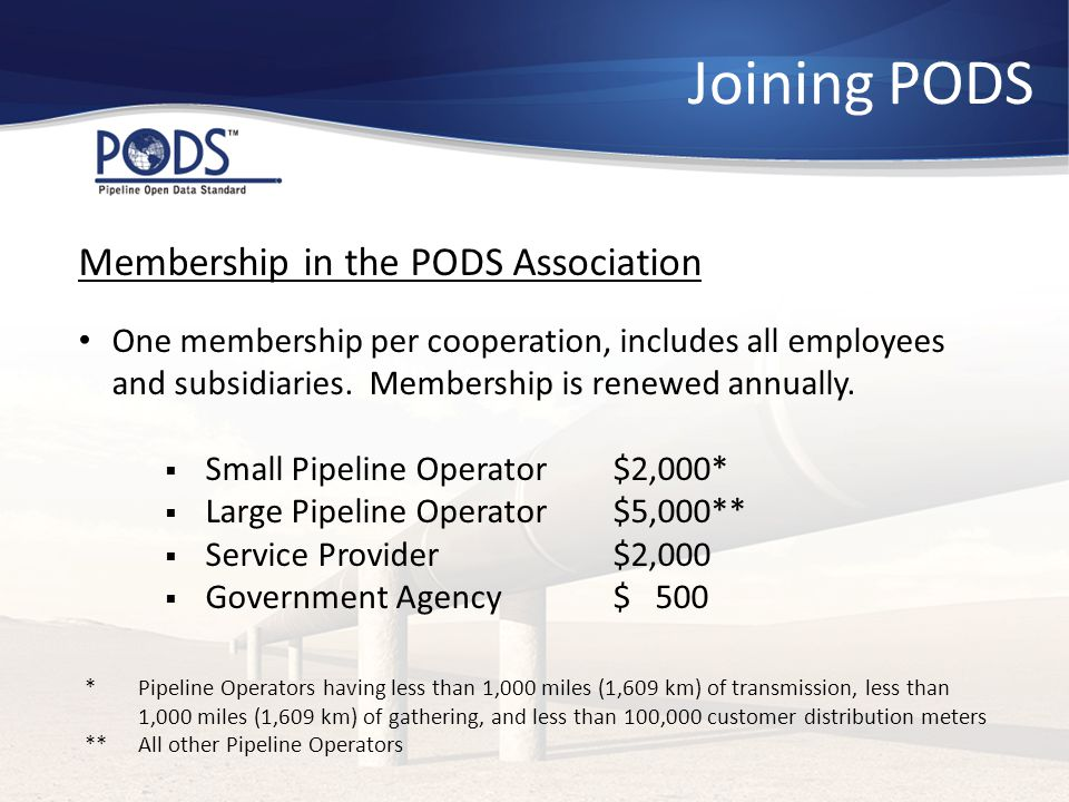 Joining PODS Membership in the PODS Association