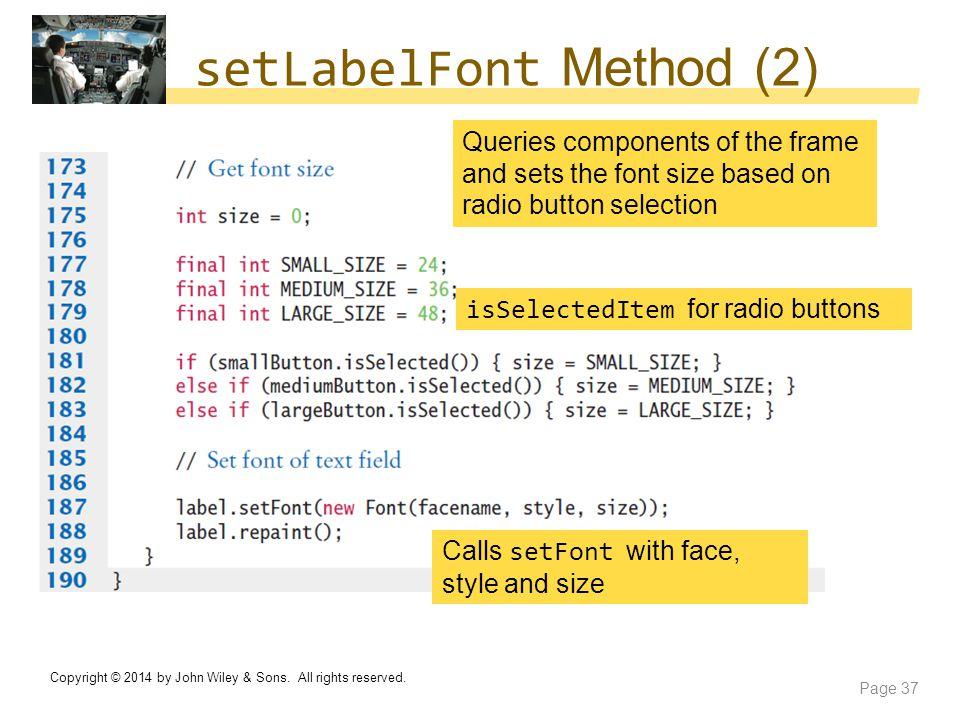setLabelFont Method (2)