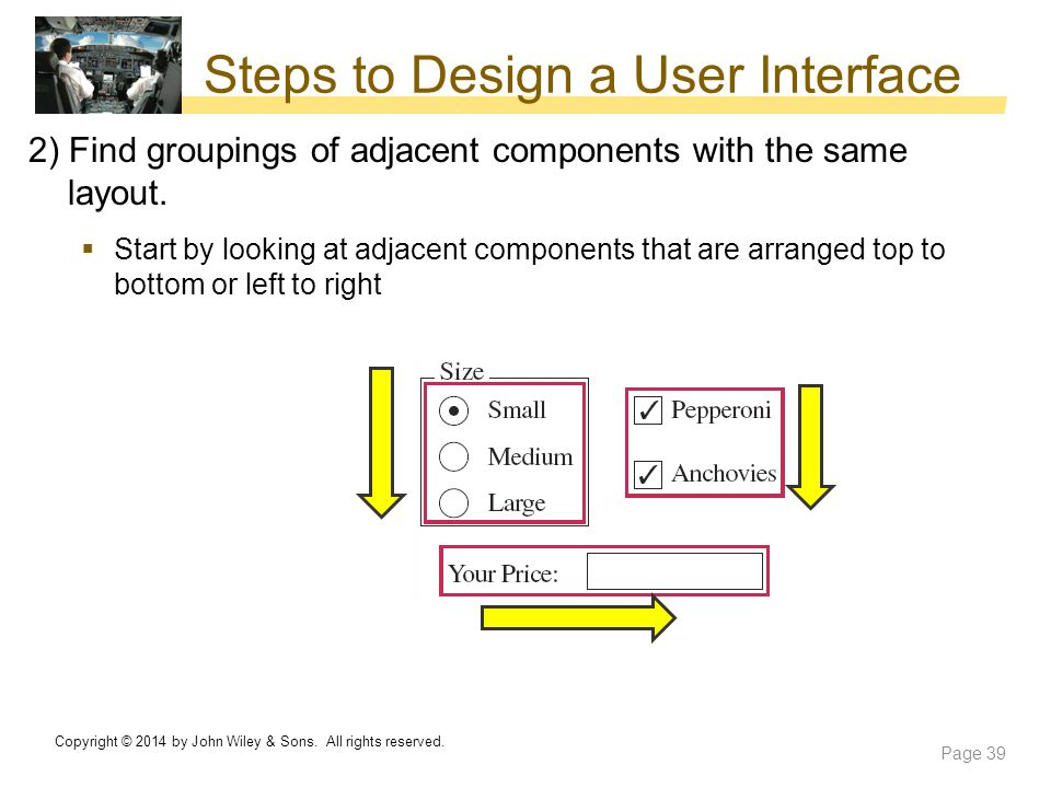Steps to Design a User Interface