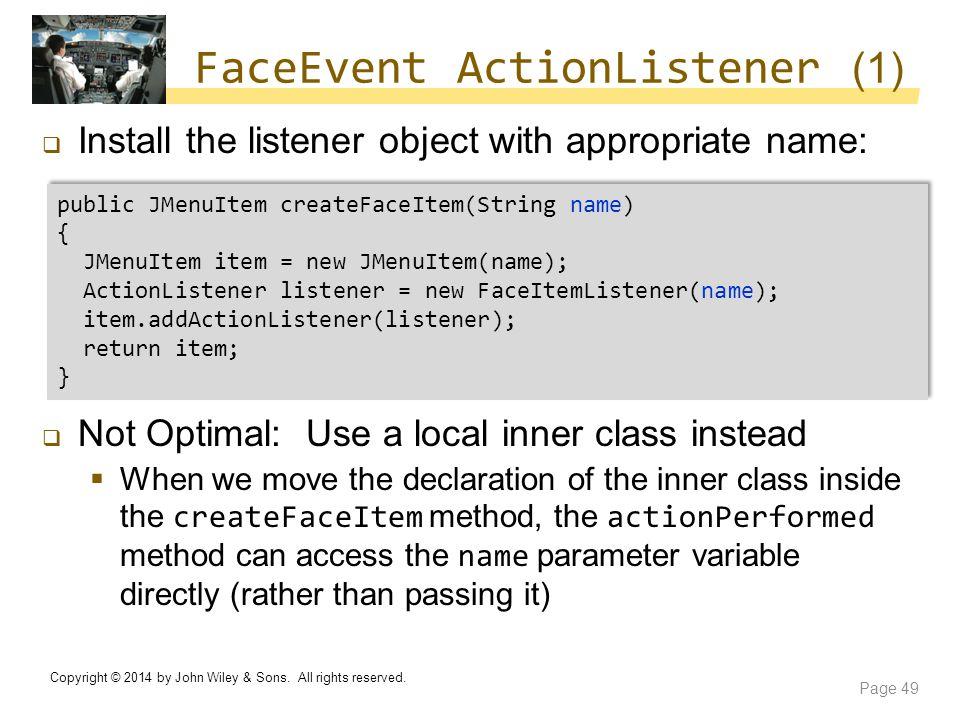 FaceEvent ActionListener (1)