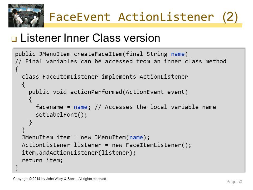 FaceEvent ActionListener (2)