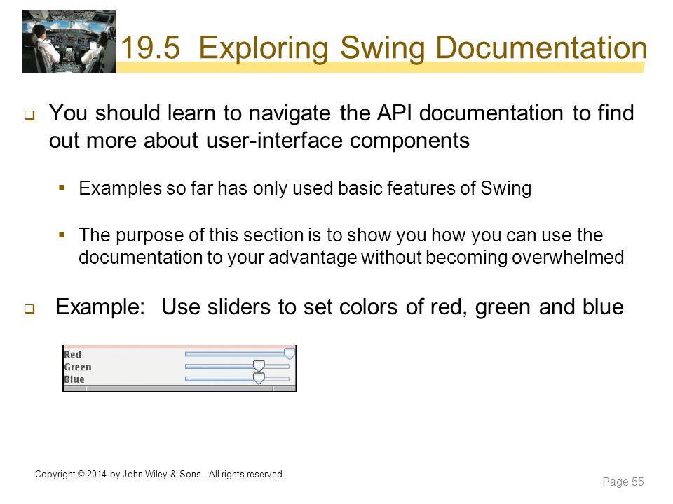 19.5 Exploring Swing Documentation