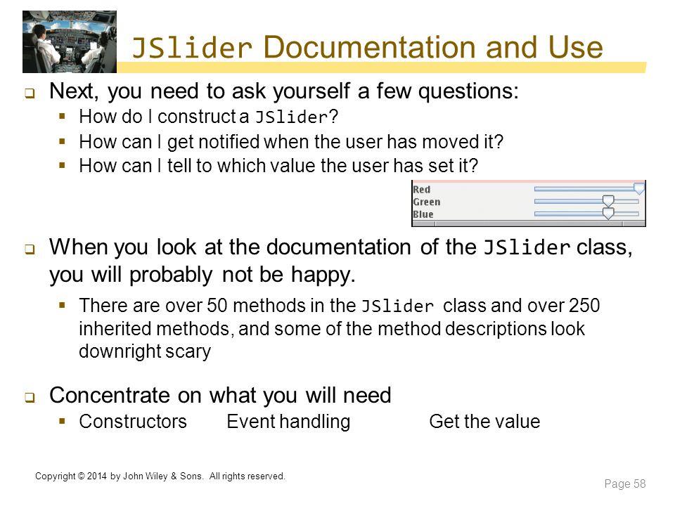 JSlider Documentation and Use
