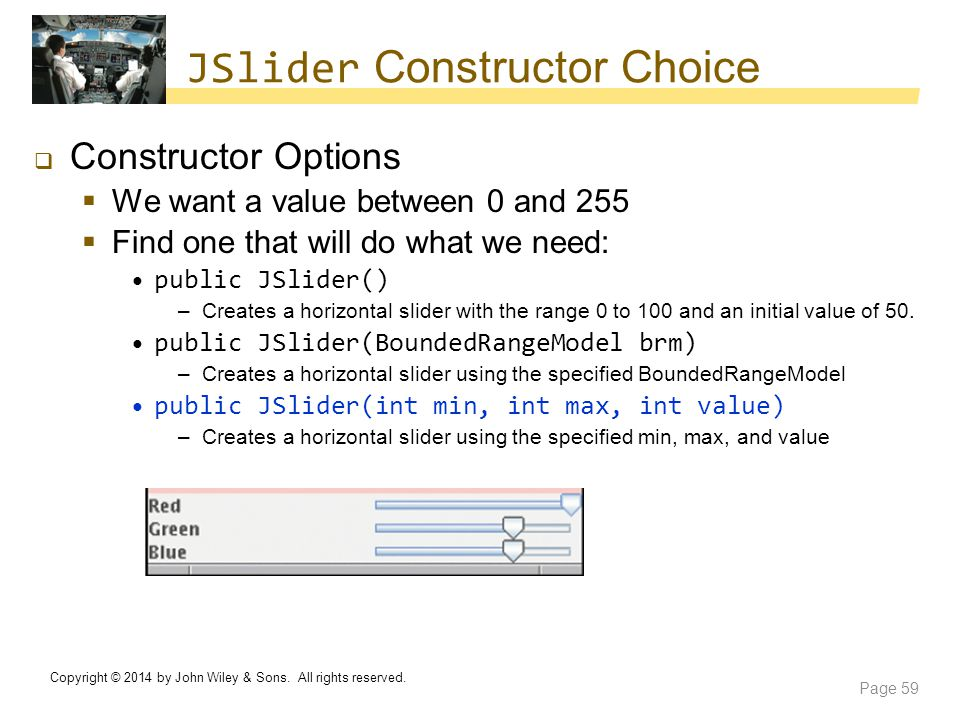 JSlider Constructor Choice