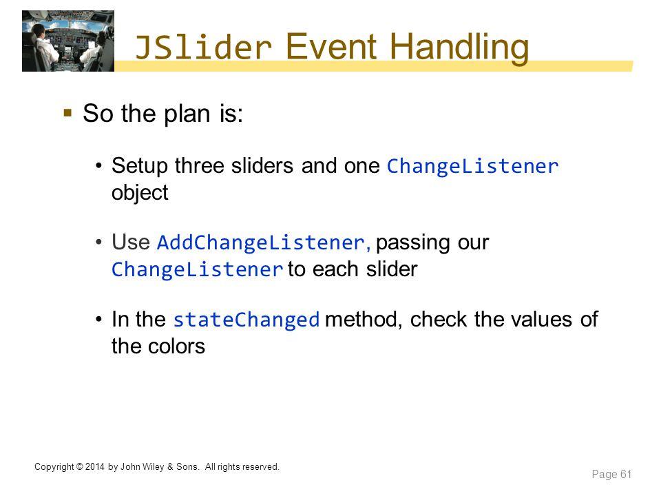 JSlider Event Handling
