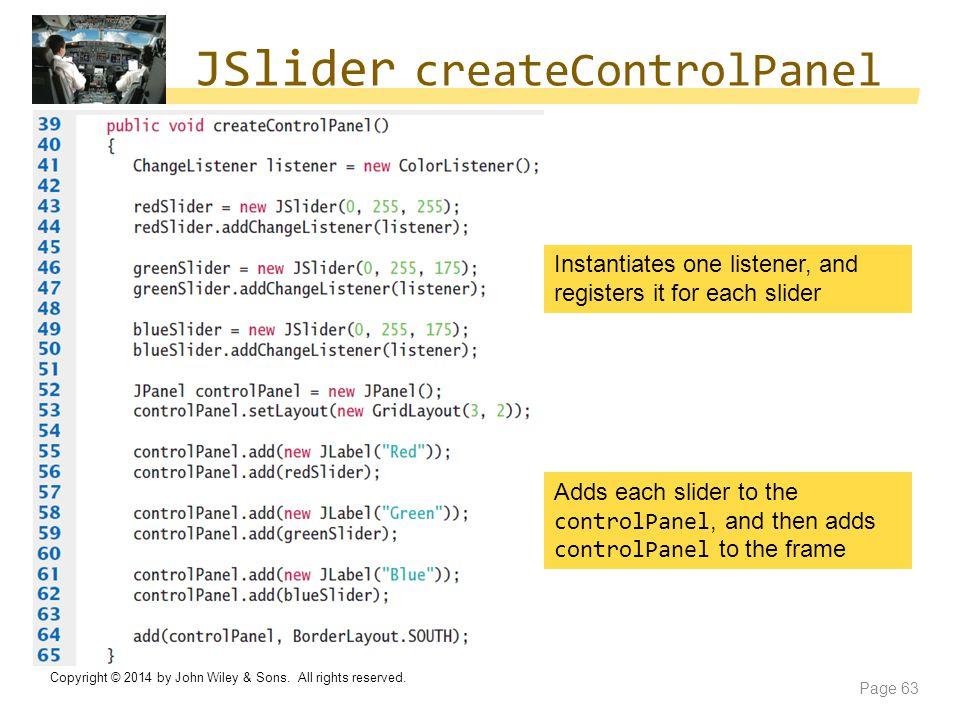 JSlider createControlPanel