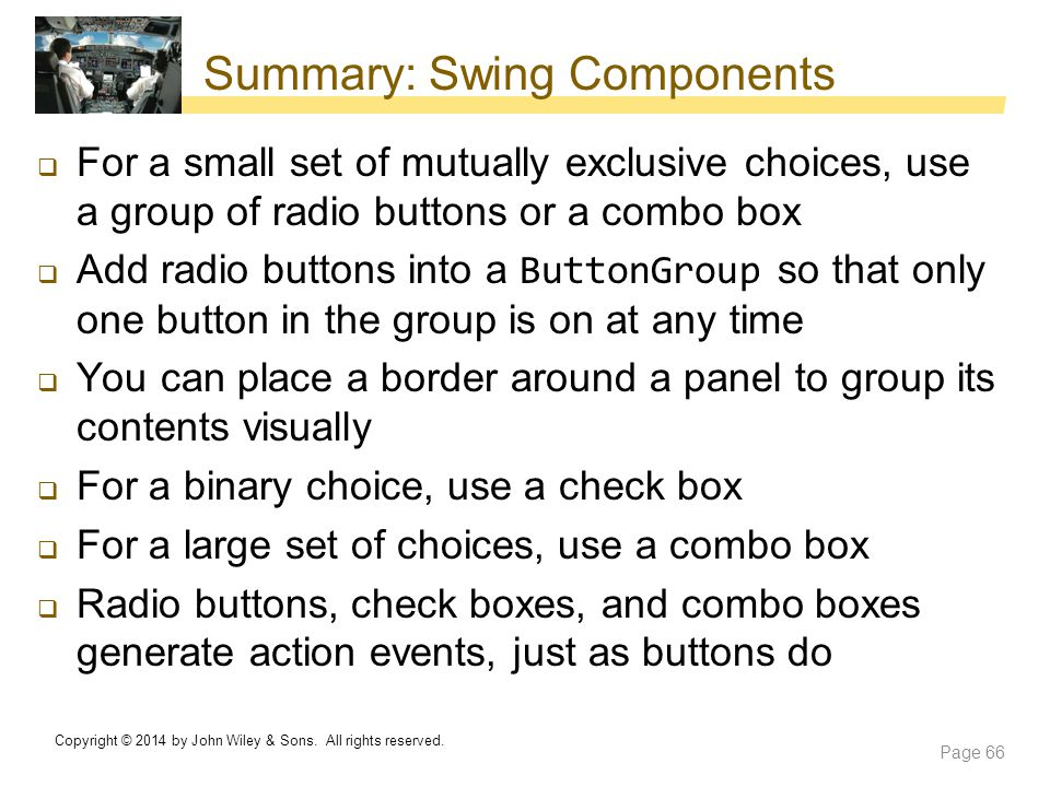 Summary: Swing Components