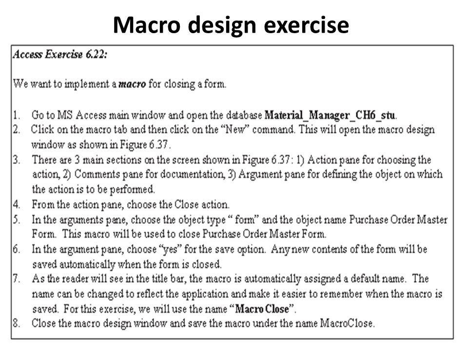 Macro design exercise