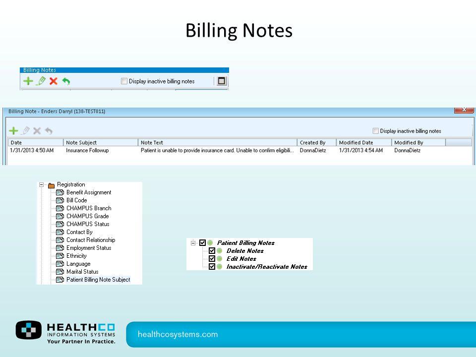 Billing Notes