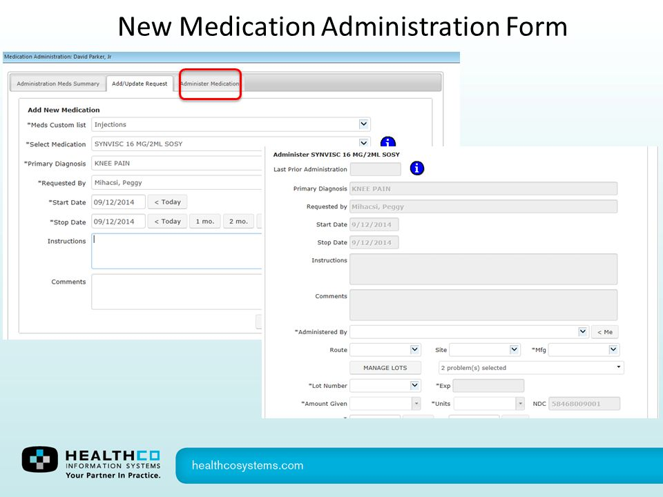 New Medication Administration Form