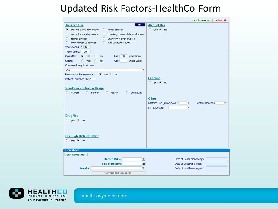 Updated Risk Factors-HealthCo Form
