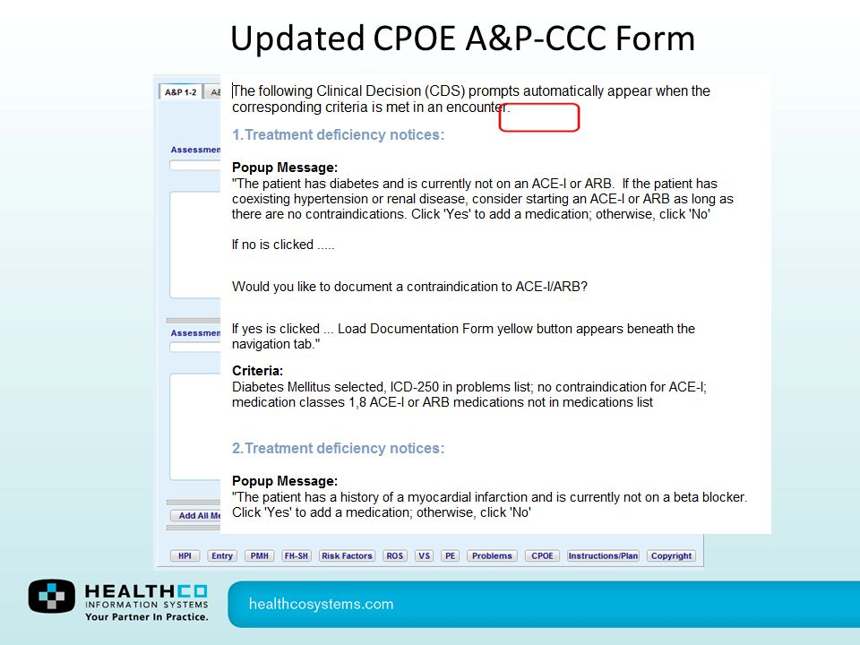 Updated CPOE A&P-CCC Form