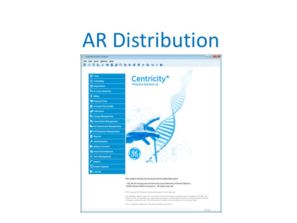 AR Distribution Describe how our AR Department is divided out by insurance company then by alpha.