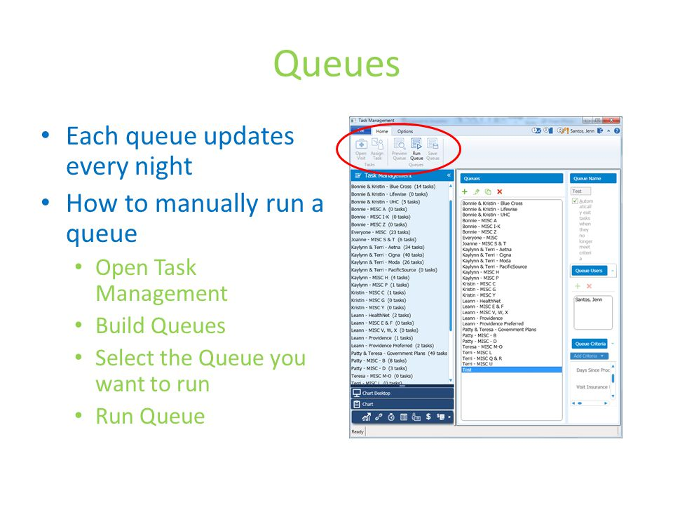 Queues Each queue updates every night How to manually run a queue