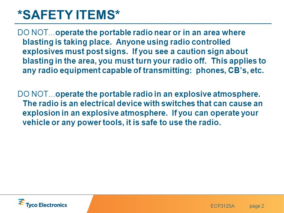 *SAFETY ITEMS*