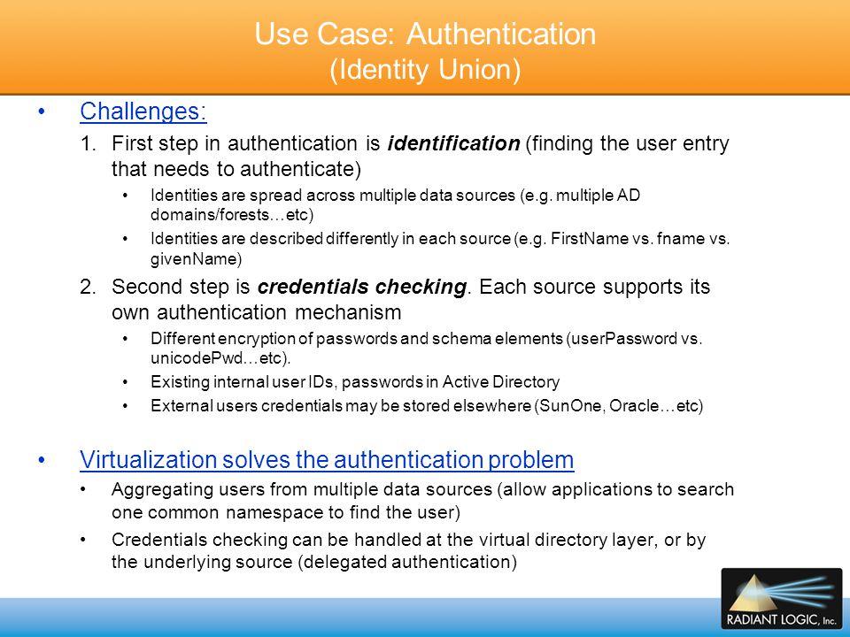 Use Case: Authentication (Identity Union)