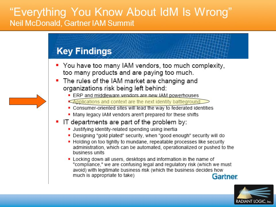 Everything You Know About IdM Is Wrong Neil McDonald, Gartner IAM Summit