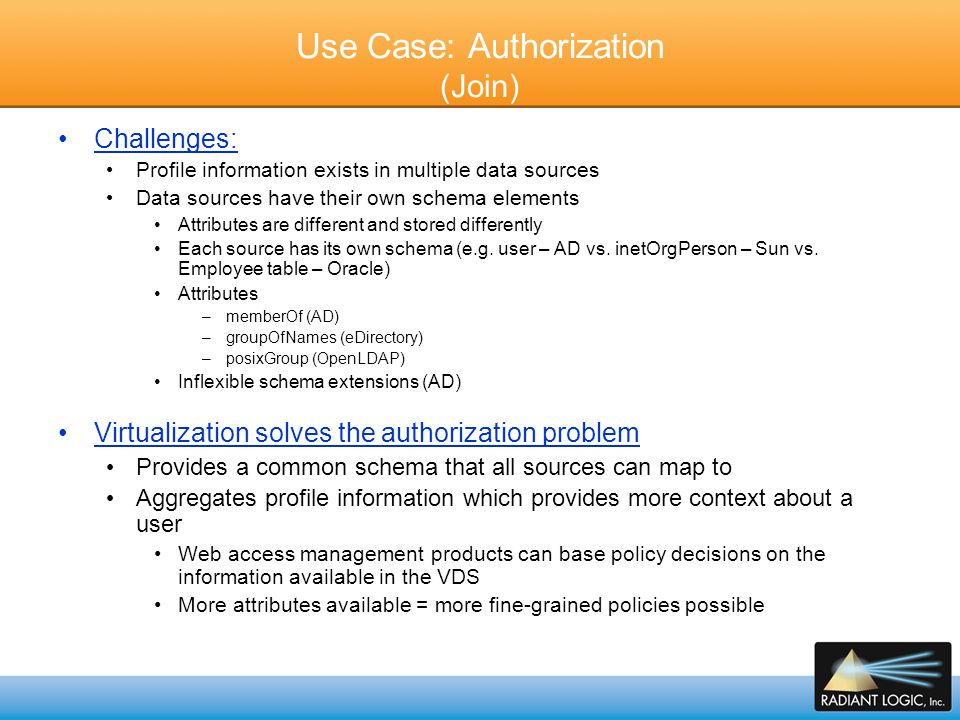 Use Case: Authorization (Join)