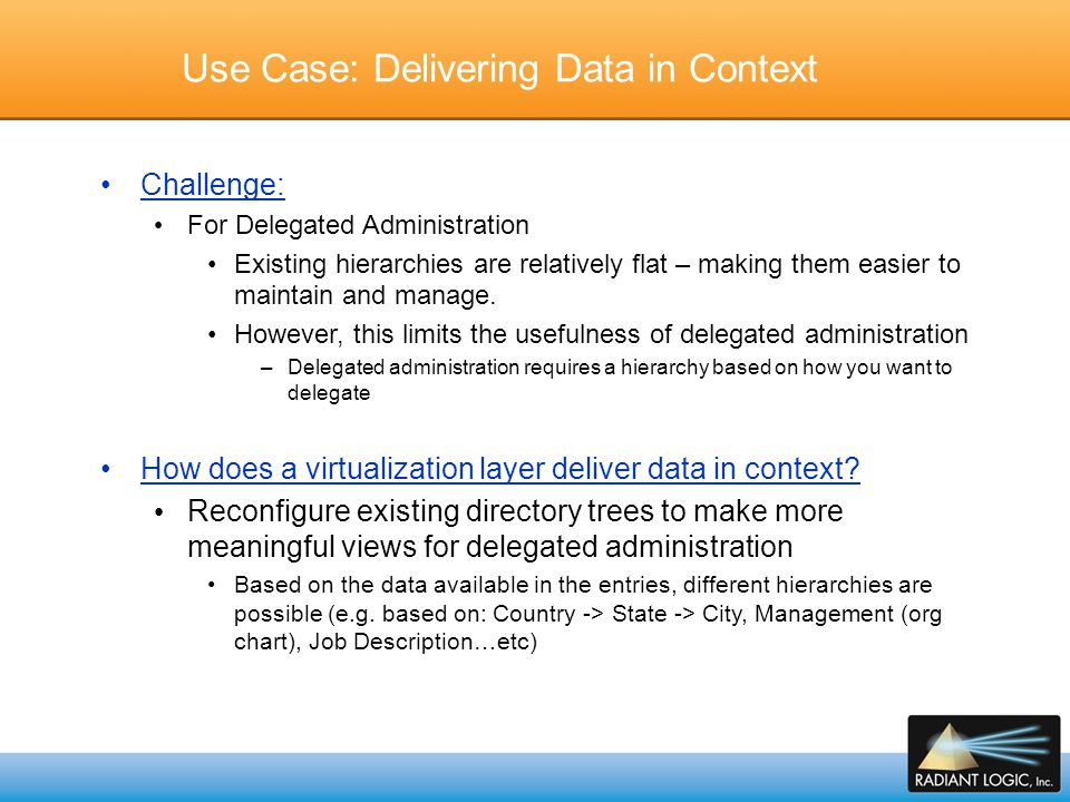 Use Case: Delivering Data in Context