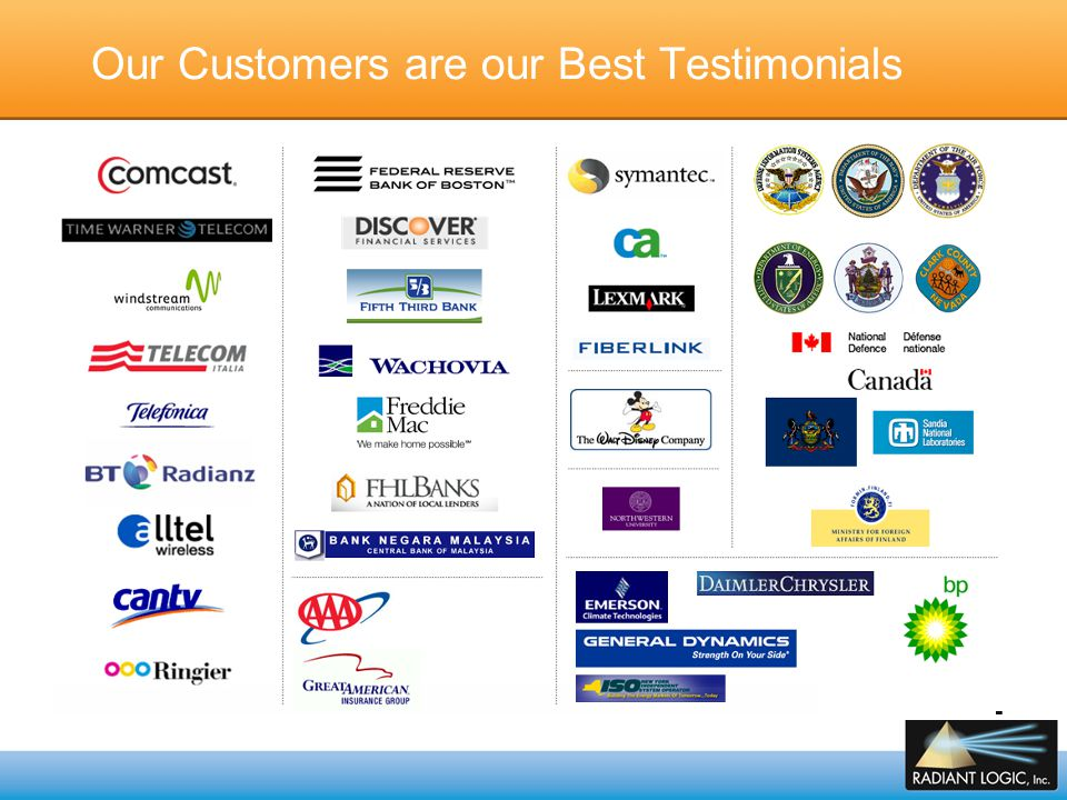 Our Customers are our Best Testimonials