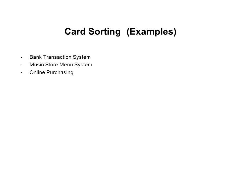 Card Sorting (Examples)