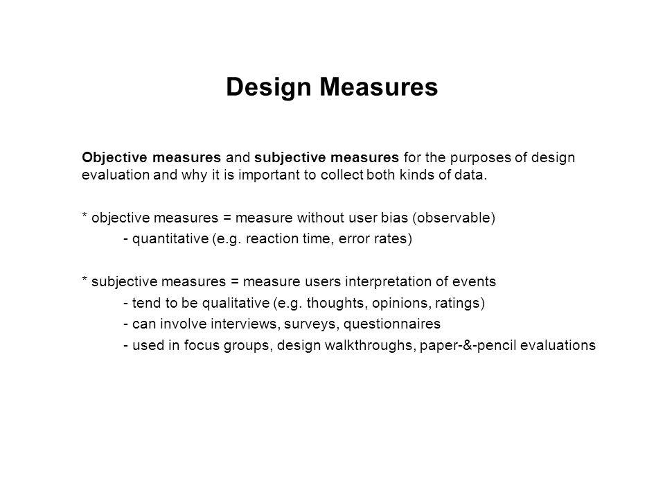 Design Measures