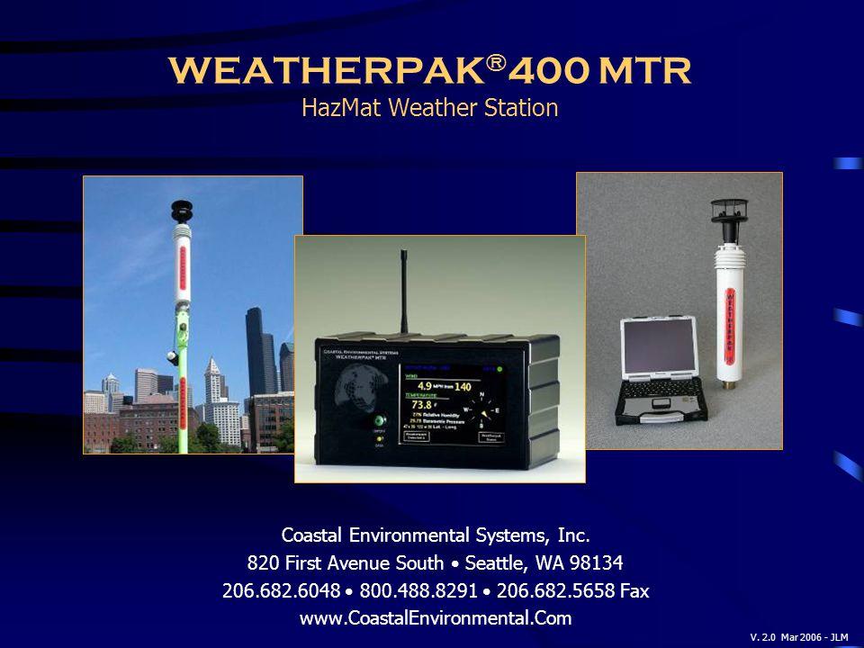 WEATHERPAK®400 MTR HazMat Weather Station