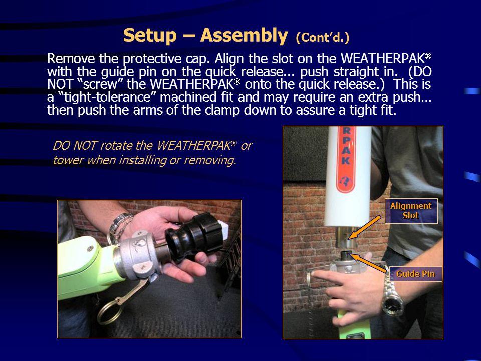 Setup – Assembly (Cont'd.)