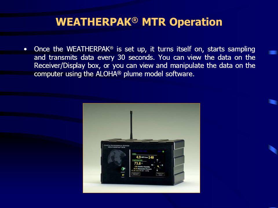 WEATHERPAK® MTR Operation