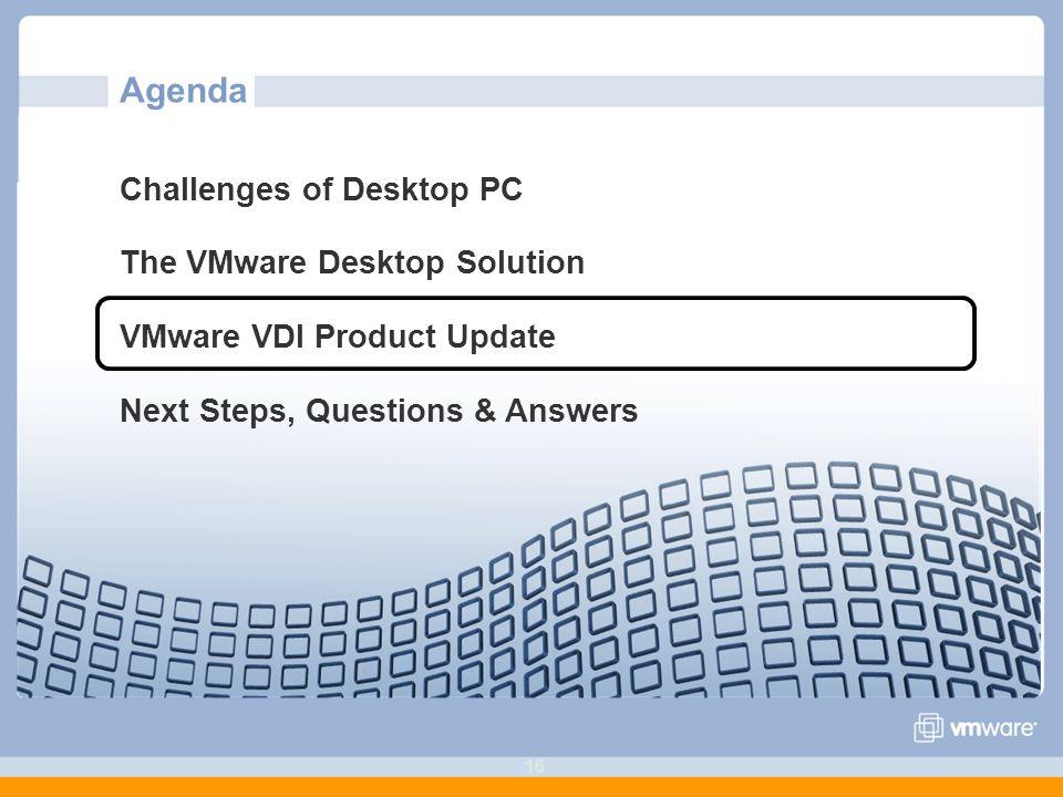 Agenda Challenges of Desktop PC The VMware Desktop Solution