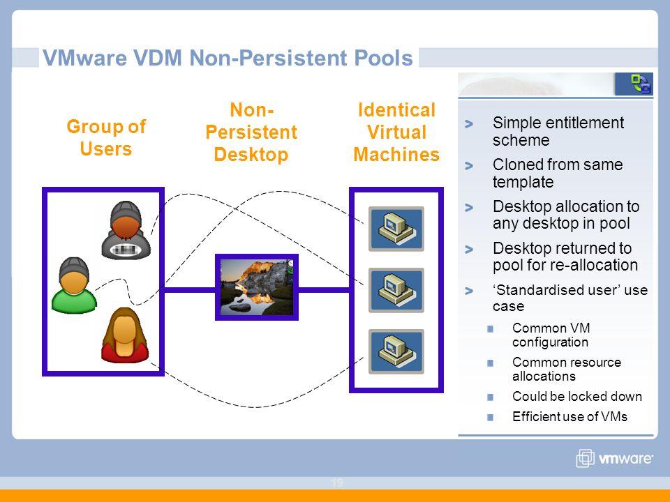 VMware VDM Non-Persistent Pools