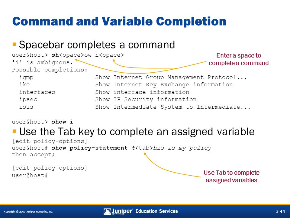 Command and Variable Completion