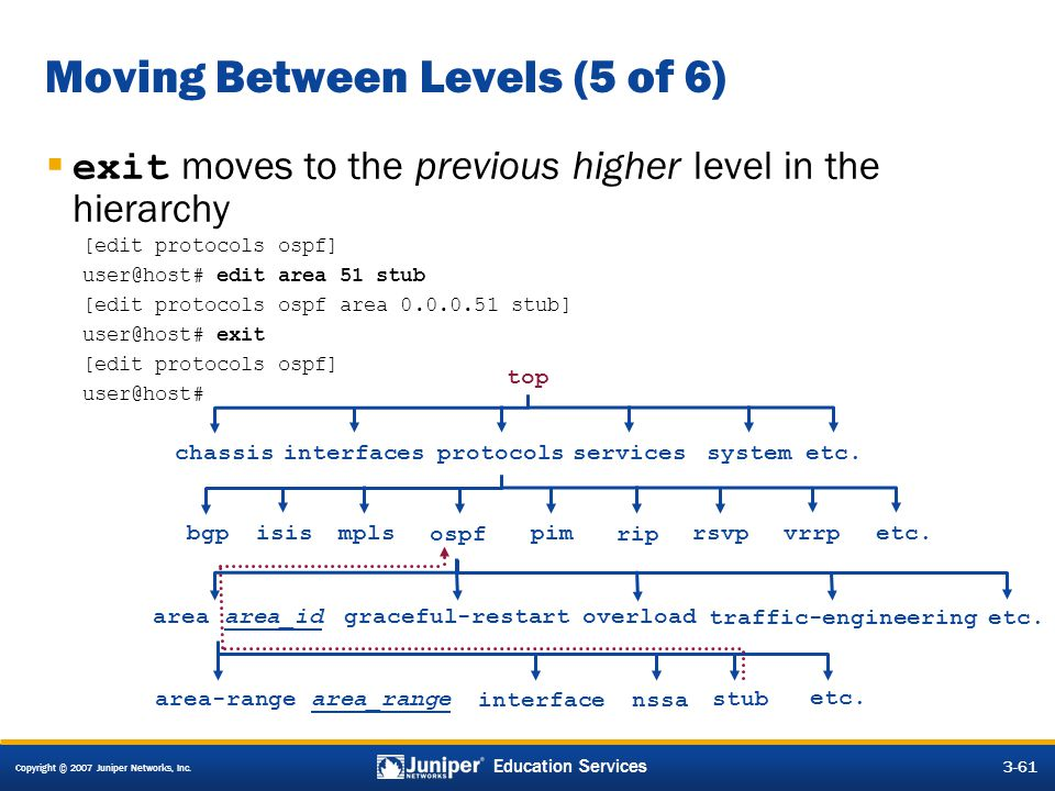 Moving Between Levels (5 of 6)