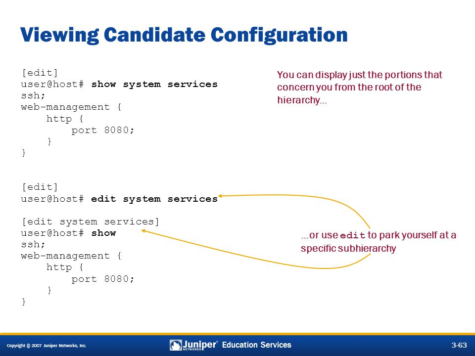 Viewing Candidate Configuration