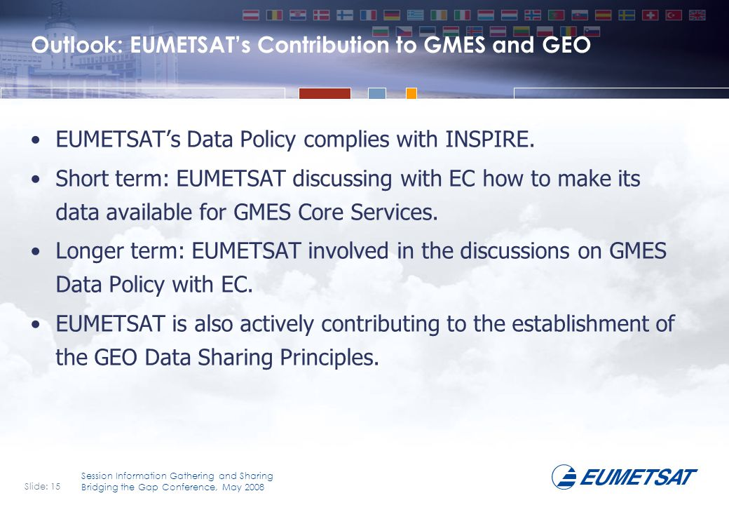 Outlook: EUMETSAT's Contribution to GMES and GEO