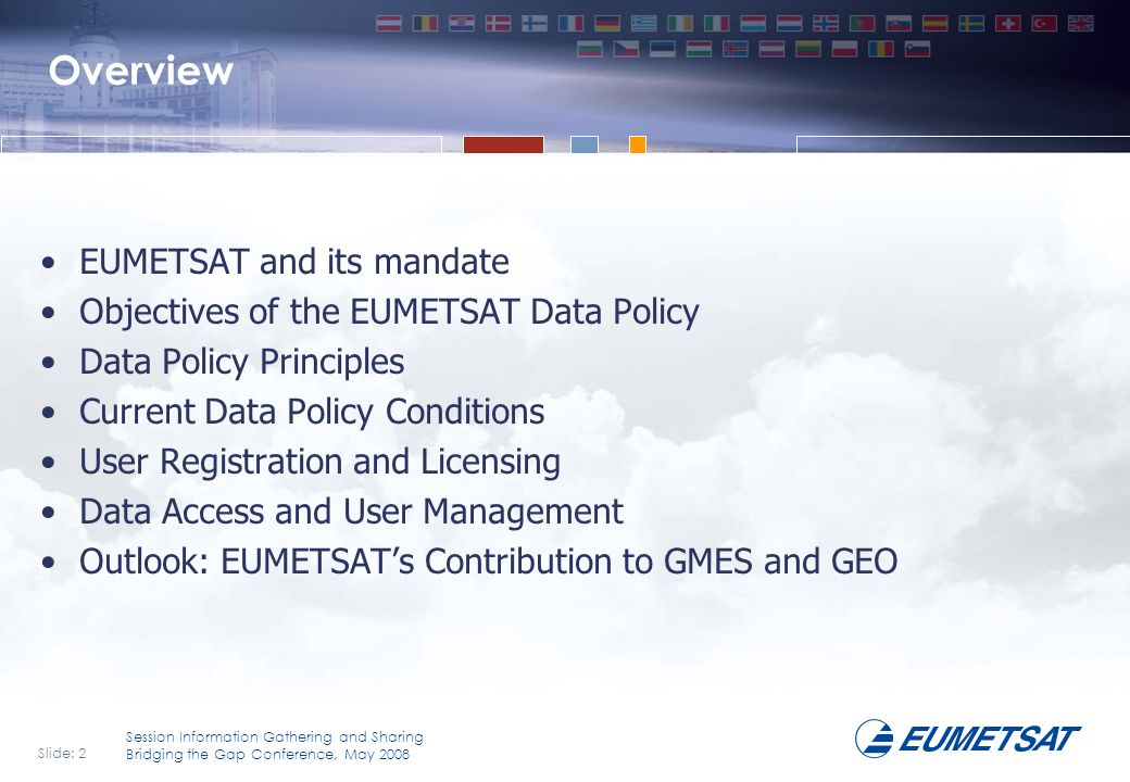 Overview EUMETSAT and its mandate