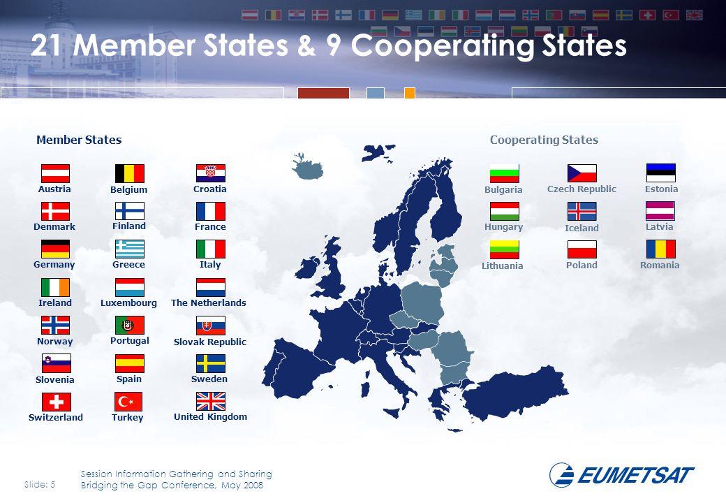 21 Member States & 9 Cooperating States