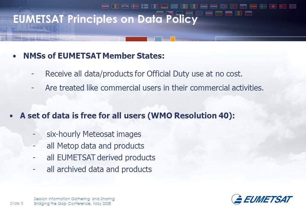 EUMETSAT Principles on Data Policy