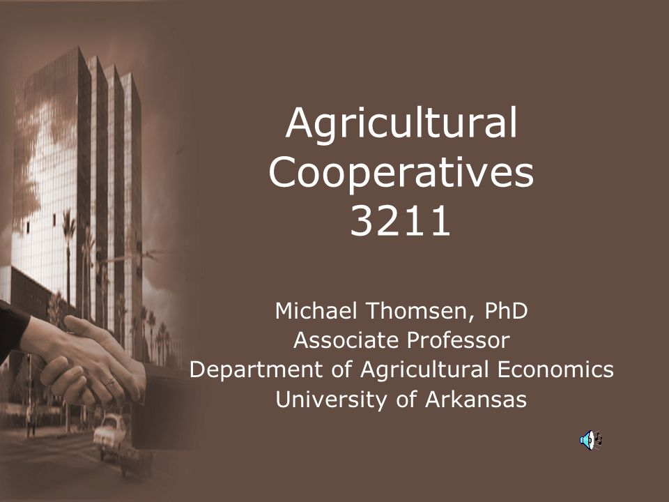 Agricultural Cooperatives 3211