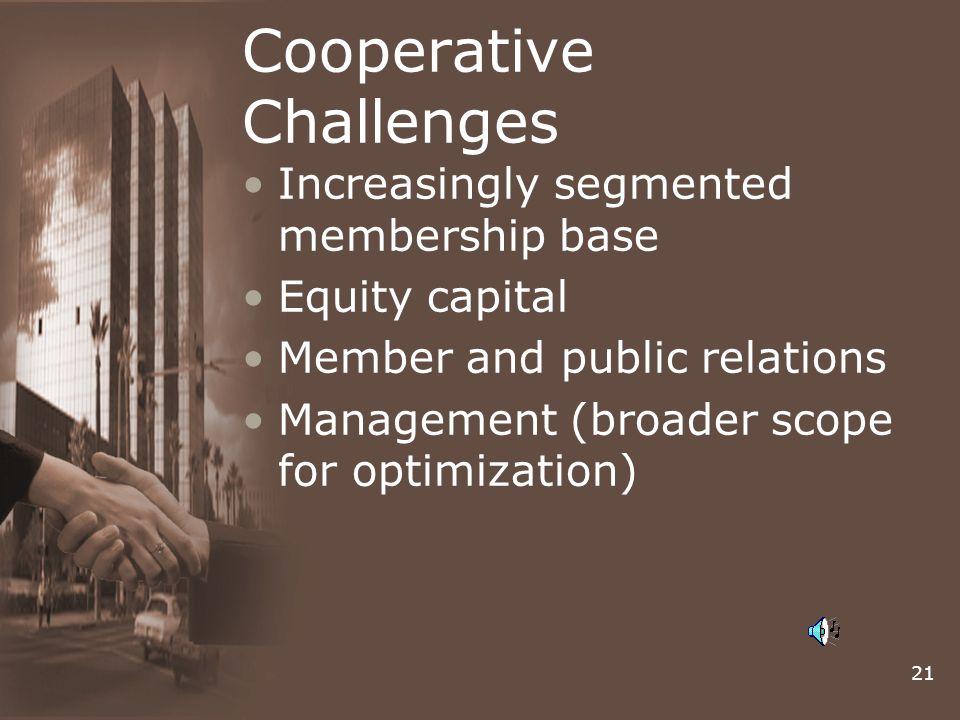 Cooperative Challenges